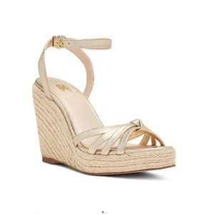 New Victoria's Secret Gold Wedge Espadrille size 7